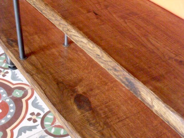 Etag re murale bois m tal sur mesure micheli design Etagere murale sur mesure