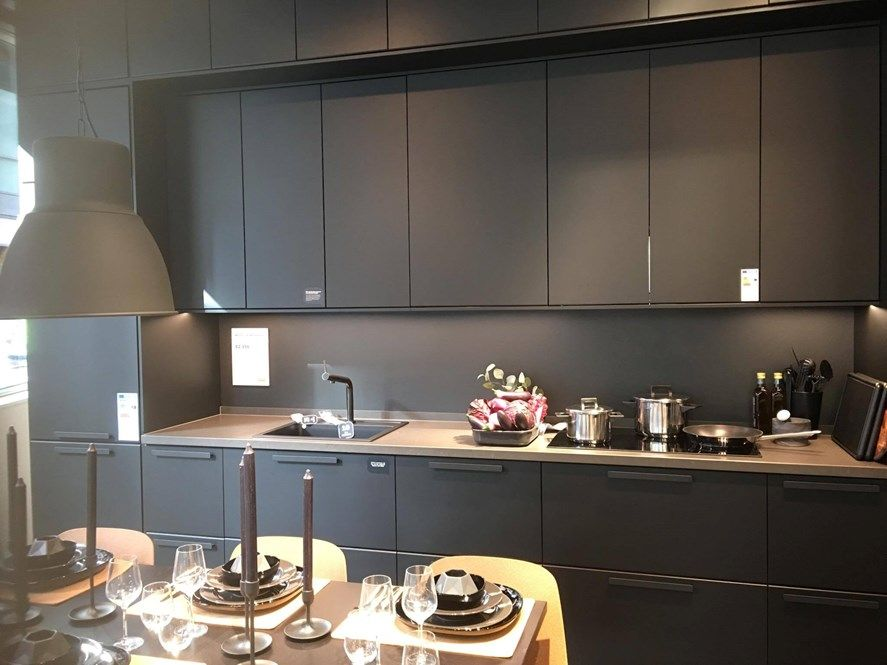 ikea kungsbacka dark moody pinterest kitchens and house. Black Bedroom Furniture Sets. Home Design Ideas