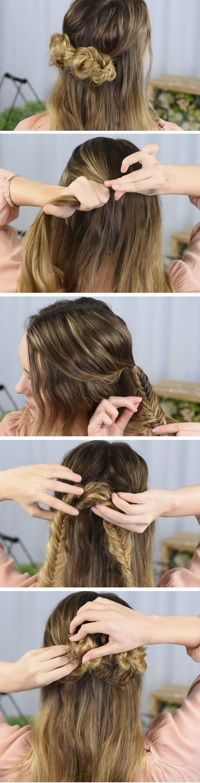 Coque super fofo que parece trabalhoso de se fazer mas nao  casamento pinterest unique hair style and rose also rh