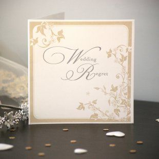 buy a classic wedding regret card for just 39p from card factory