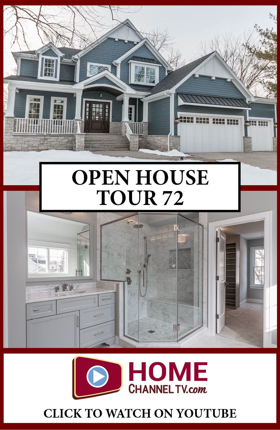 Open House Tour 72 See Video Tour Custom Homes House Tours House