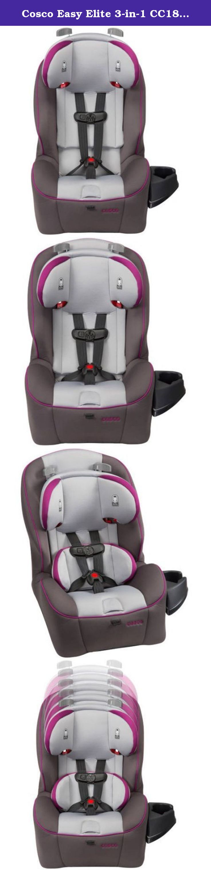 Cosco Easy Elite 3 In 1 Cc187dsi Convertible Car Seat Dahlia Belt Positioning 40 80 Lbs Side Impact Protection The Three One Has