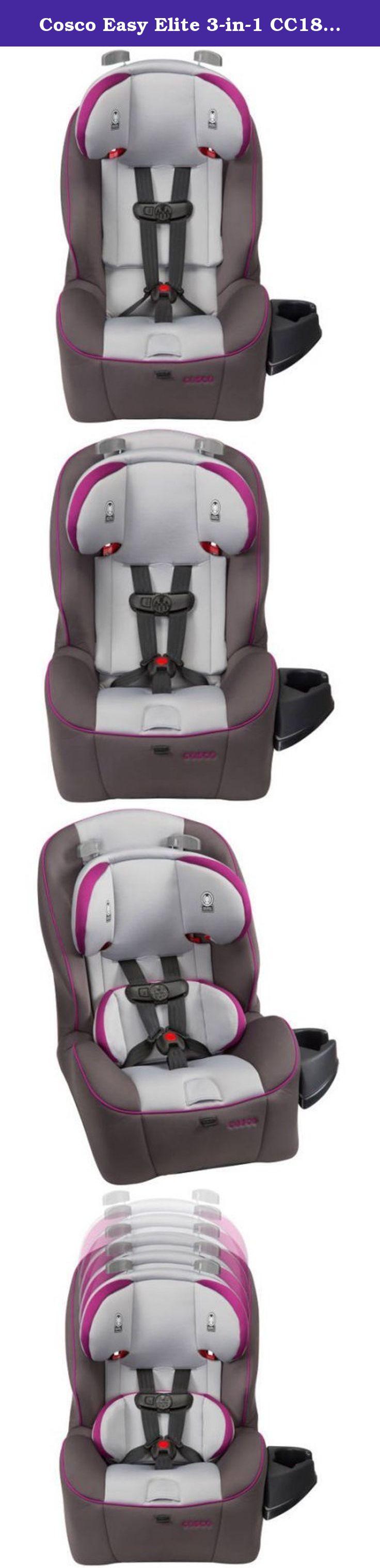 Cosco Easy Elite 3-in-1 CC187DSI Convertible Car Seat, Dahlia, Belt ...