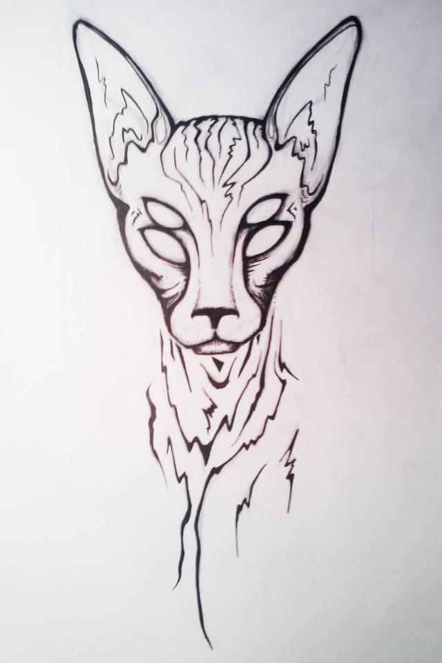 Sphynx Cat Tattoo Designs Kitty More At Catsincare Com Cat Tattoo Designs Cat Tattoo Sphynx Cat Tattoo