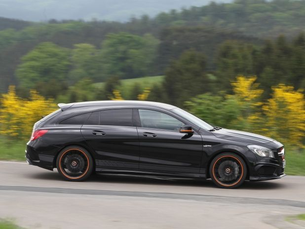 mercedes amg cla 45 shooting brake test mercedes amg. Black Bedroom Furniture Sets. Home Design Ideas
