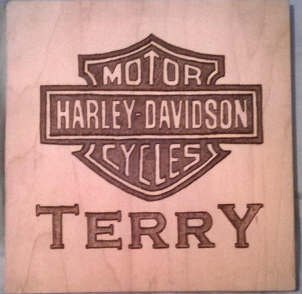 Harley Davidson Badge wood burning. Personalized Fatheru0027s Day gift. Name is lettered in a Copperplate(ish) style.  sc 1 st  Pinterest & Scrap Wood Pyrography. Harley Davidson Badge wood burning ...