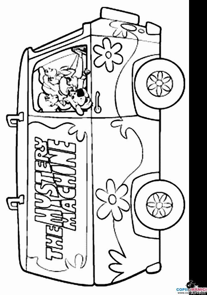 Mystery Machine Coloring Pages Plansa De Colorat Plansa De