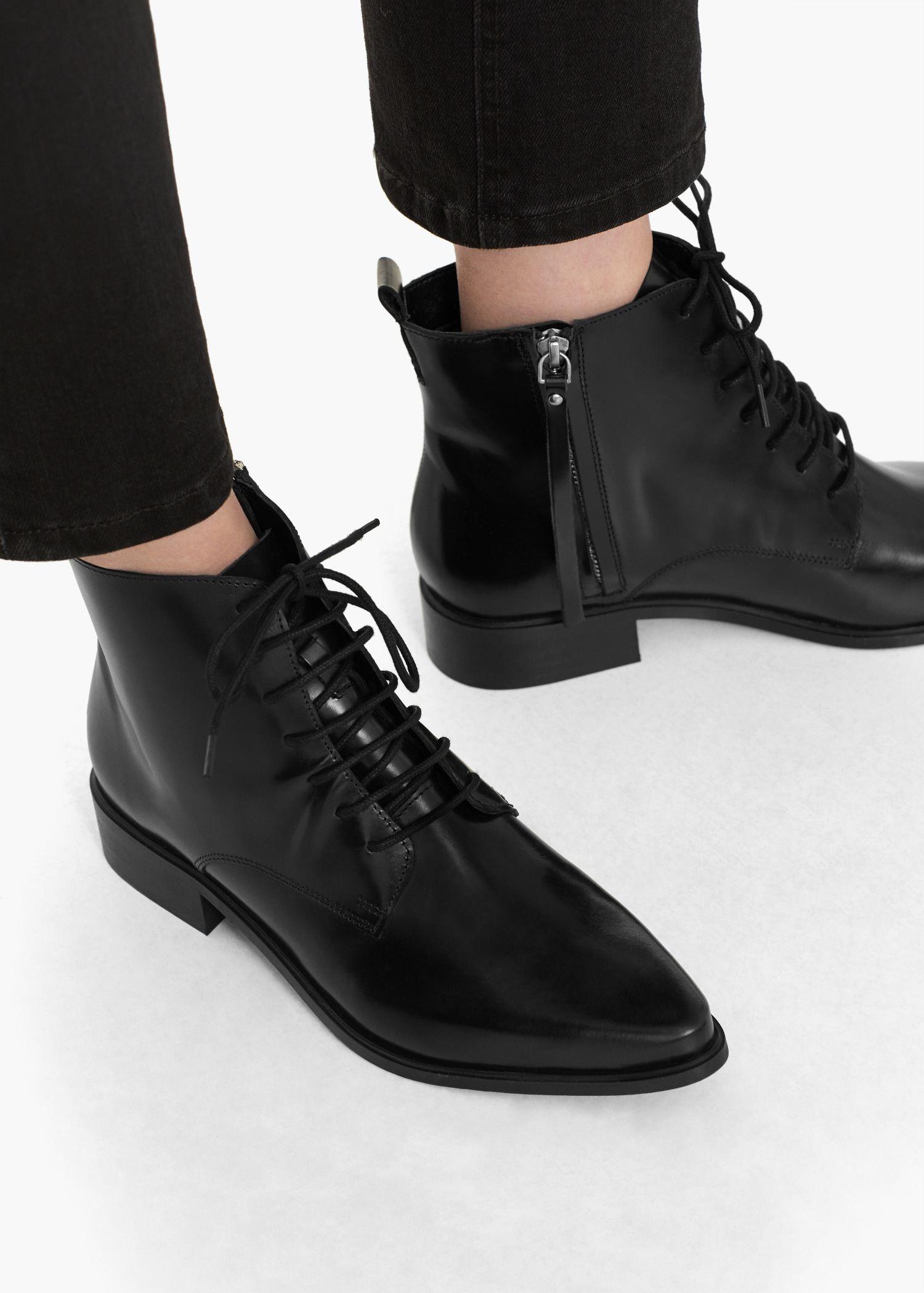 Mujer Botines bajos Casual Con Cordones Caminar Combate Agarre Zapatos Talla - Nubuck MIEL, 39