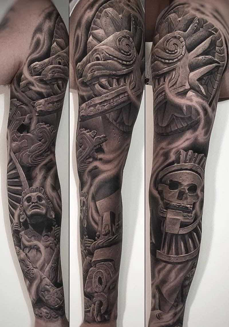 Aztec Sleeve Tattoos : aztec, sleeve, tattoos, Aztec, Tattoos, Tattoo, Insider, Tattoo,, Tattoos,, Sleeve