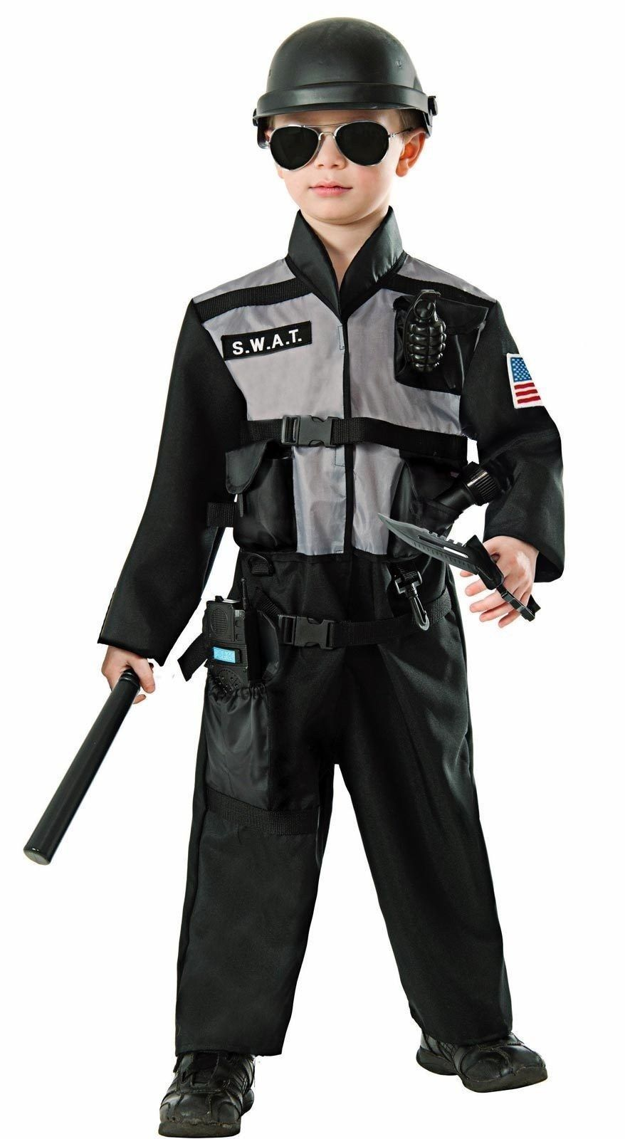 Police Jumpsuit Child Costume Medium