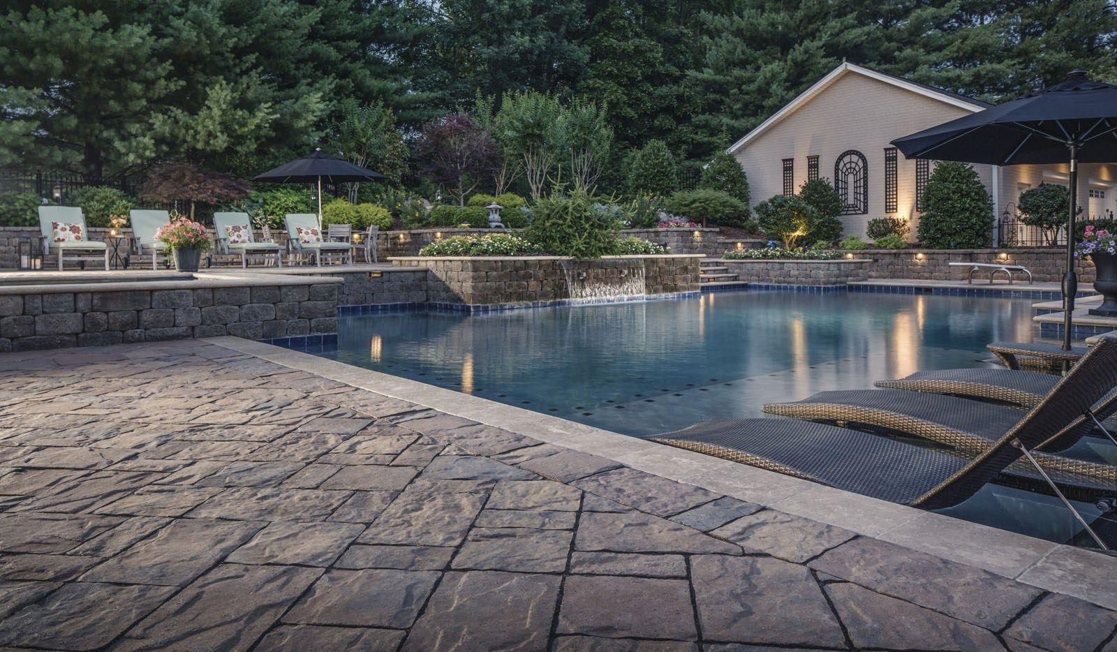 Pool Deck Patio Design Trends In 2017 Belgard Blog Flagstone Pool Decks Hardscape Patio Patio Deck