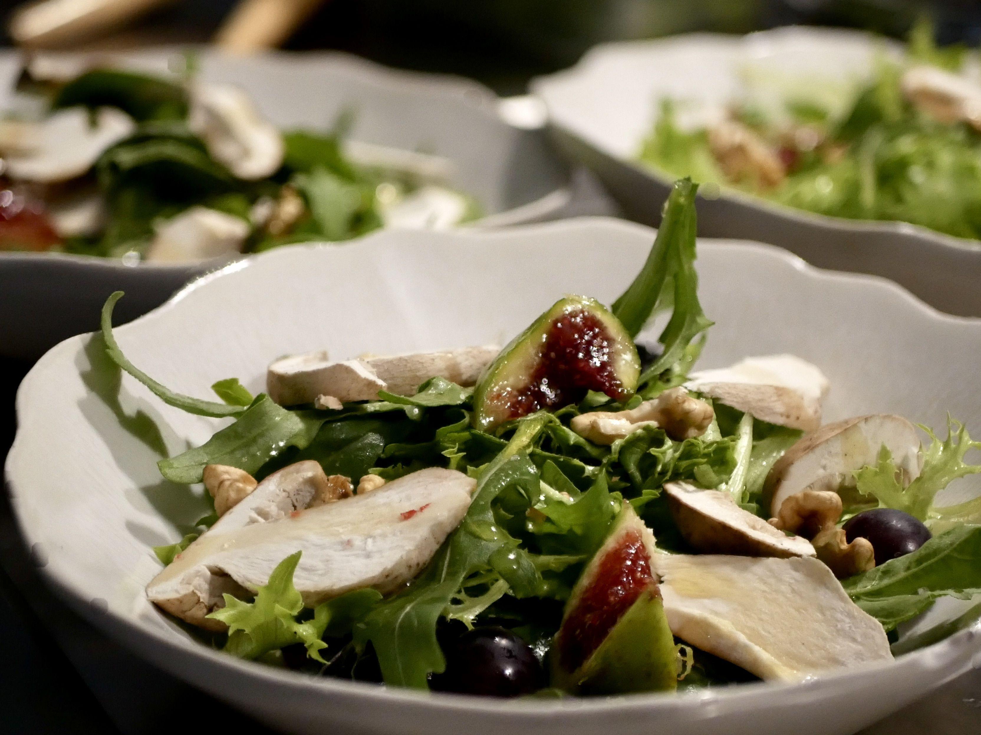 Salade aux fruits d'automne et cèpes #saladeautomne