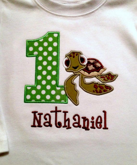 Squirt Finding Nemo Birthday personalized shirt or by grammeshouse ...