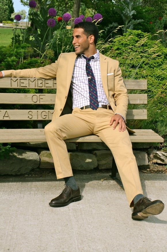 Visions of summer... the cotton suit | m e n | Pinterest | Khaki ...