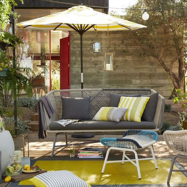 Outdoor Living Picks from West Elm - Bright Bold and ...