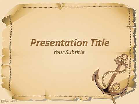 Anchor powerpoint template pirate pinterest template free anchor powerpoint template toneelgroepblik Images