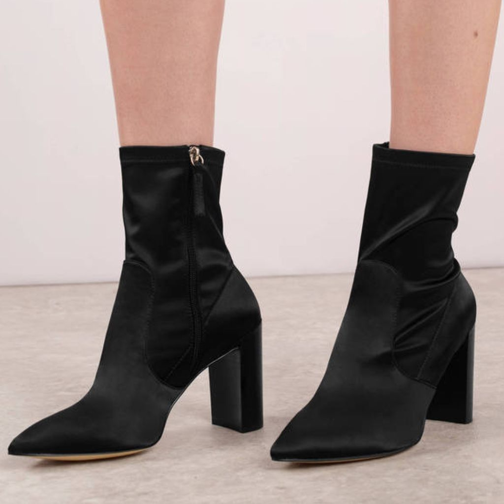 Chinese Laundry Black Lycra Boots Nwt Pointy Toe Boots
