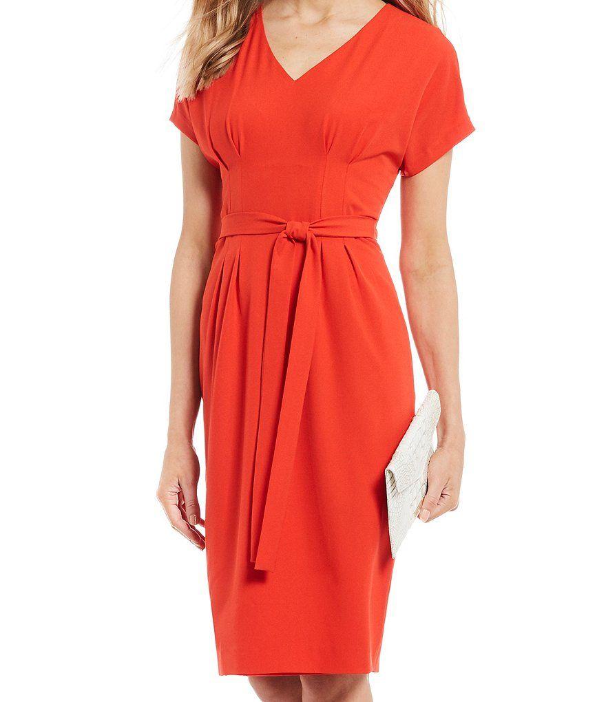 Alex Marie Elise V Neck Tie Waist Midi Dress Dillard S Alex Marie Midi Dress Dresses