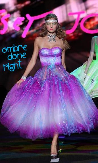 betsey johnson purple ombre prom dress | The Art of Fashion | Pinterest