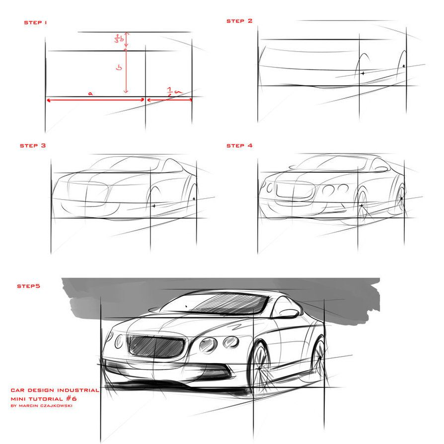 Tutorial sketch car 6