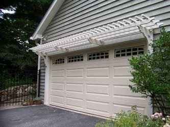 Double Car Garage Pergola Architectural Garage Pergolas