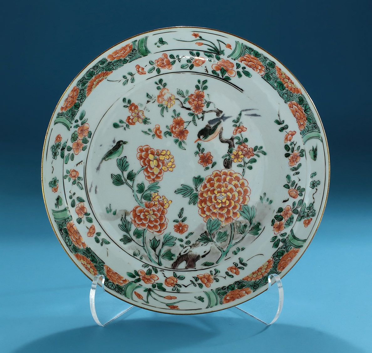 *FOR SALE* Click to read about the history and see more detailed images* CHINESE EXPORT FAMILLE VERTE DEEP DISH, Kangxi, c1700-1722