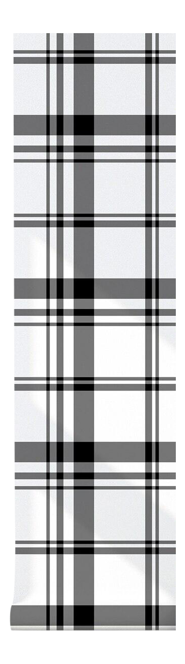 Modern Plaid Black White Peel Stick Fabric Wallpaper 2 W X 4 L In 2021 Wallpaper Cross Wallpaper Fabric Wallpaper