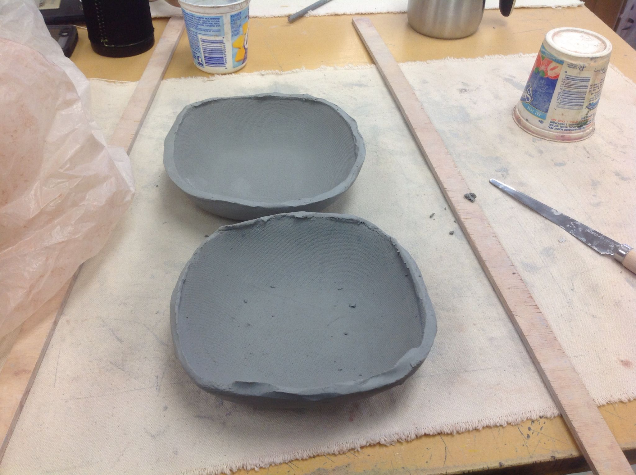 Started my midterm project by draping the same bowl form twice