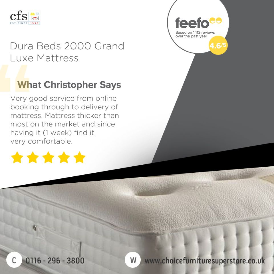 Dura Beds Mattress Dura Beds 2000 Grand Luxe Mattress Cfs Customer Reviews