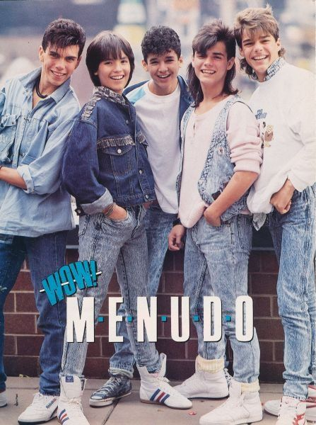 Menudo - Ricky Martin is on the far right.