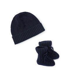 Cashmere Hat & Booties Set - Baby Boy Hats - RalphLauren.com