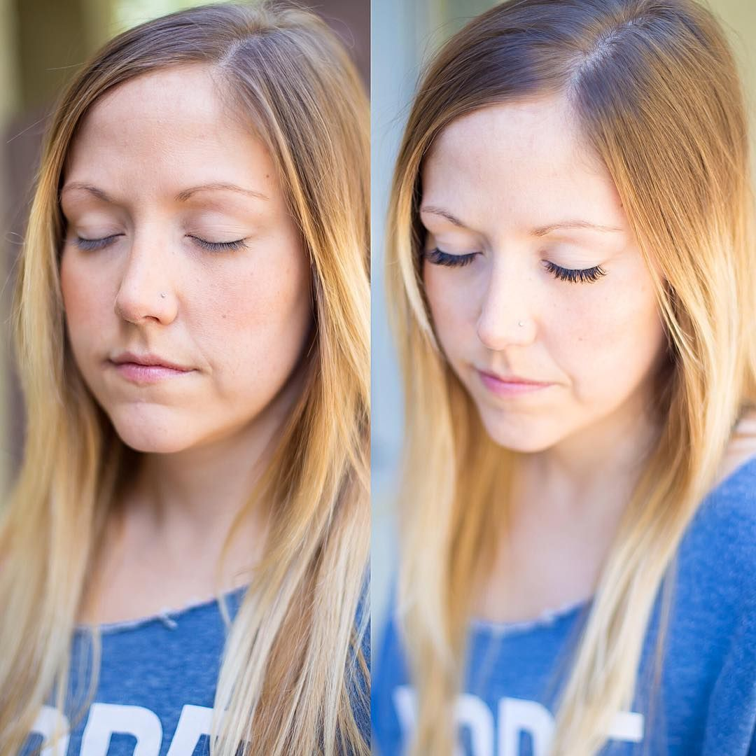 Before && After  Lashes by Tamran Fuentes at Let's Lash Eyelash Extension Studio in Scottsdale, Arizona