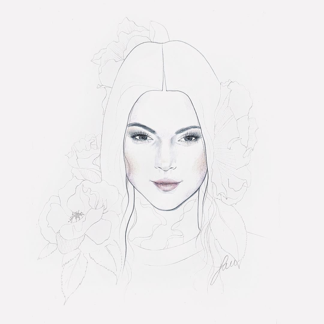 By me #kendalljenner #illustration #lauracuadrosillustrator #handmade #coloredpencil #botanicalart #flowers #kendall #art #love #instagood #follow #cute #photooftheday #happy #beautiful #girl #instadaily #instalike #like4like #followforfollow #amazing #pretty #art #hair #nature #cool #beauty #eyes #cool #awesome