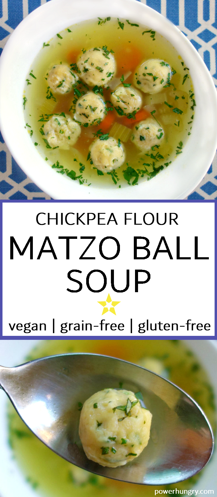 Chickpea Flour Matzo Ball Soup Grain Free Vegan