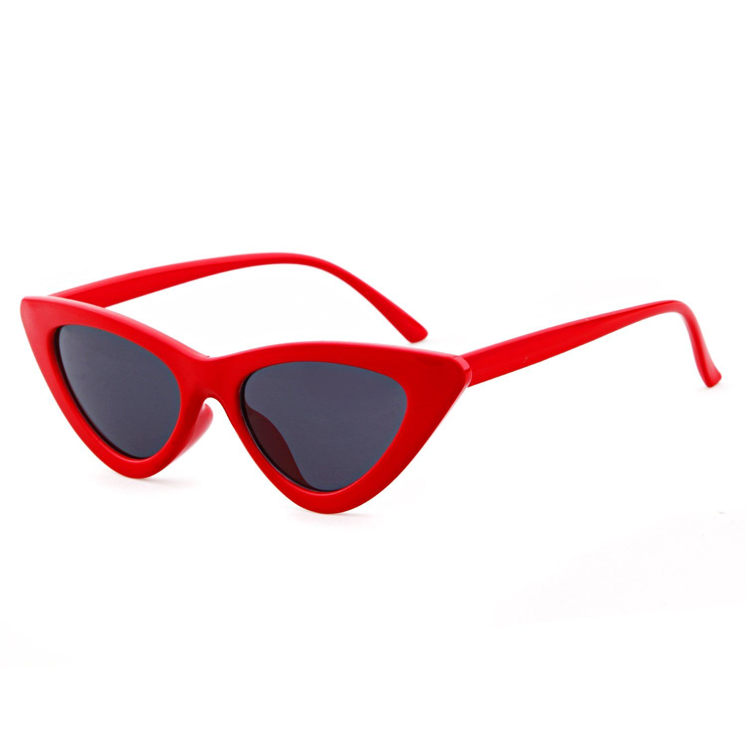 0a6e03556f Gifiore Retro Vintage Cat Eye Sunglasses for Women Clout Goggles Plastic  Frame Glasses BlackandRedandPink 51   To view further for this item