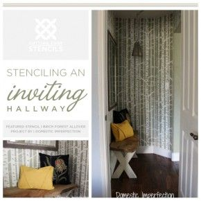 Creating An Inviting Hallway With Stencils