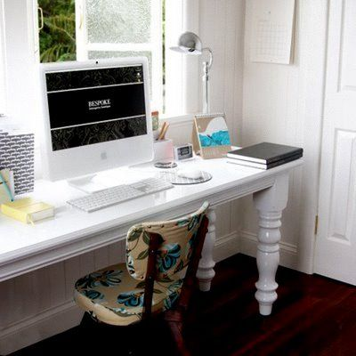 Pin By Evan Zislis On Long Narrow Desks Narrow Desk Narrow Office Desk White Desk Bedroom
