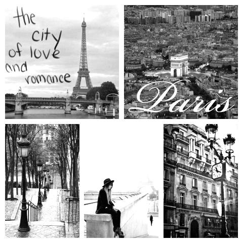 Paris Collage Romance Black And White Photo