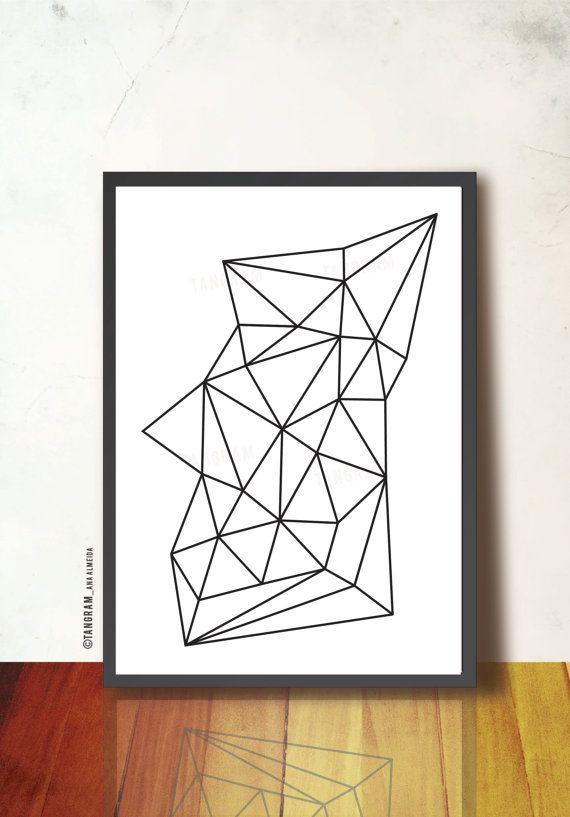 #PRINTABLE #GEOMETRIC Art Poster. Scandinavian Design by #TANGRAMartworks