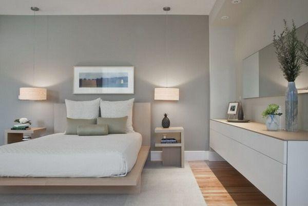 ▷ 1001 Ideen Für Wandfarbe - Grautöne Für Die Wände Ihrer Wohnung ... Schlafzimmer Ideen Grau Weiss