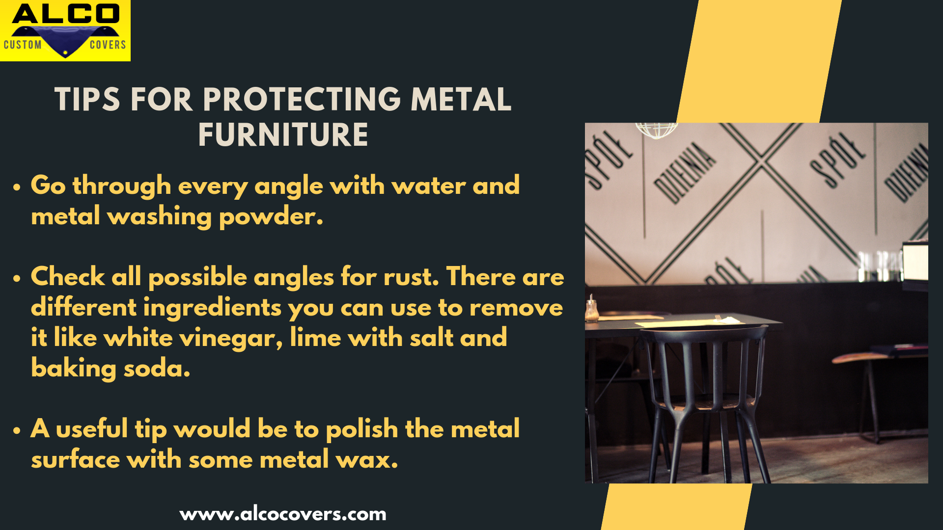 Here Are Some Tips Which Help To Protect Your Metal Outdoor