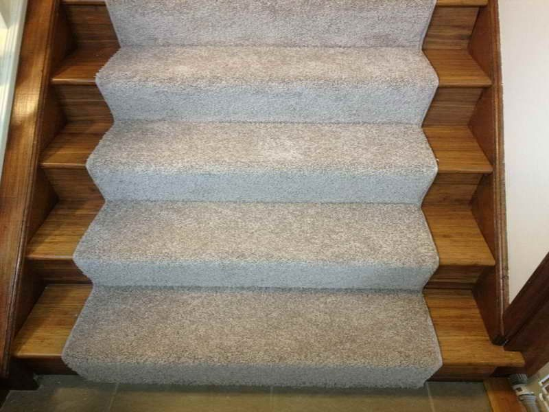 Bamboo Stair With Carpet Runner For Stairs Stair Runner Carpet