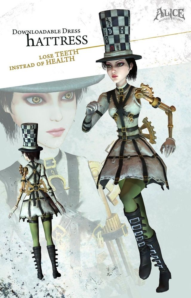Alice Mcgee Hatter Outfit Alice Madness Returns Alice Liddell