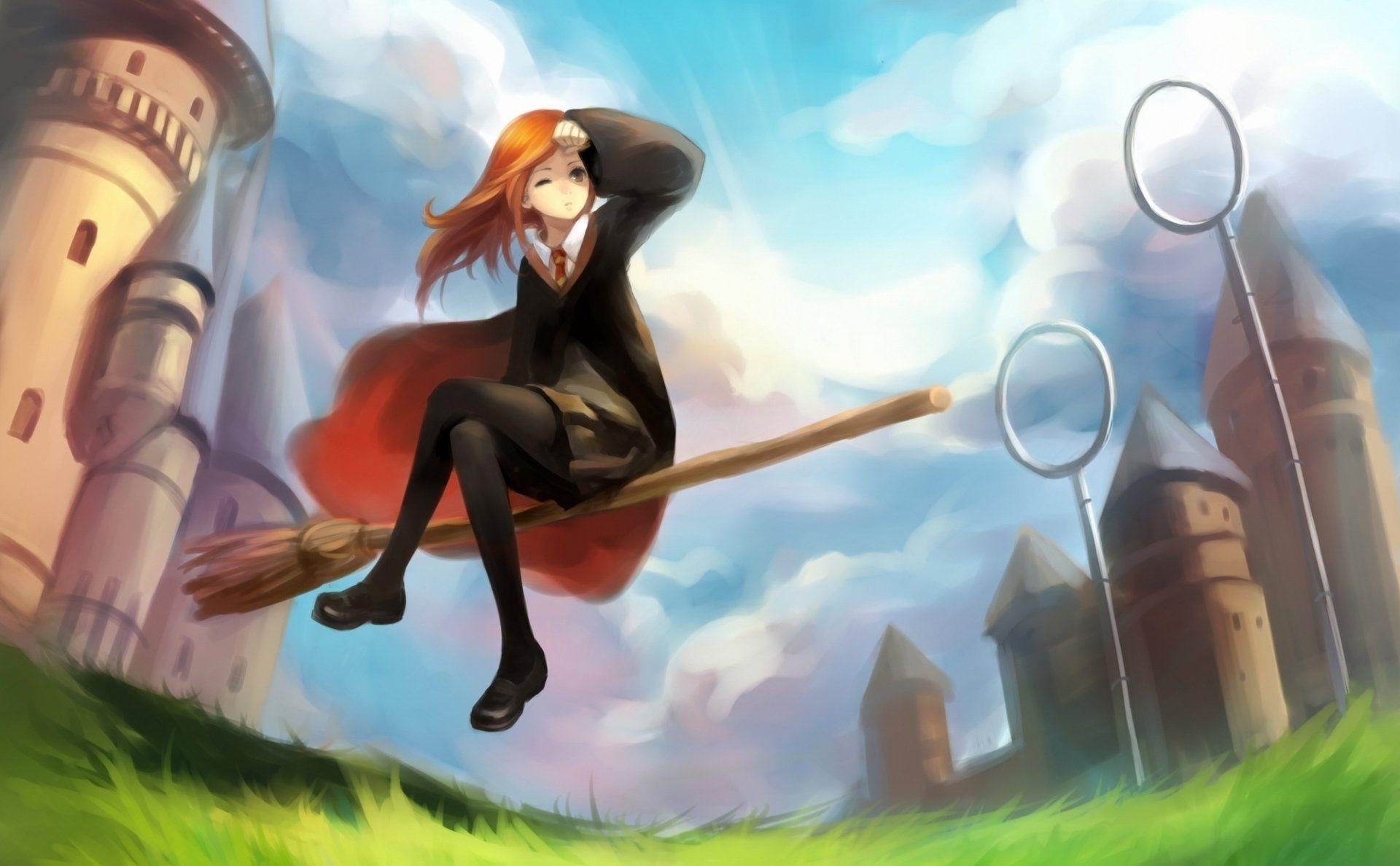 Movie Harry Potter Quidditch Ginny Weasley Wallpaper