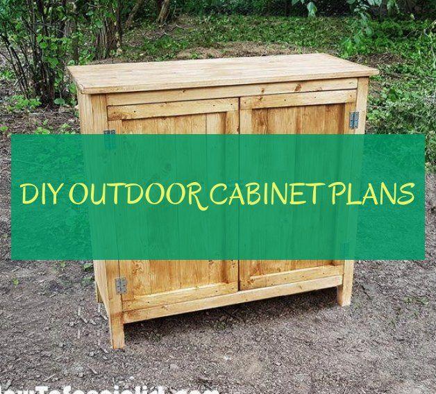 diy outdoor cabinet plans