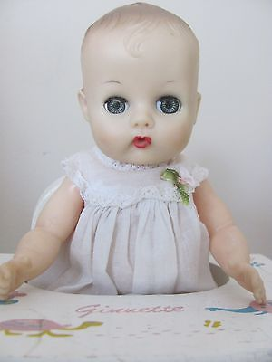 1950s baby doll bottles | 1950s Ginnette Baby Doll - Adorable - with Ginnette Play Table/Chair