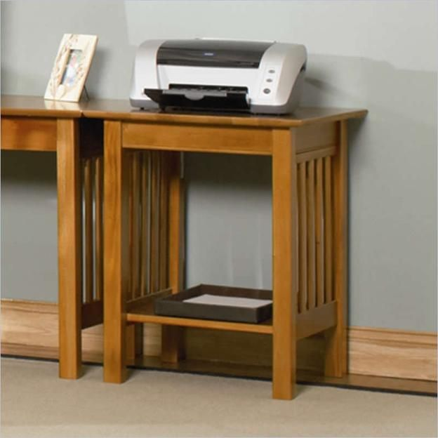 Atlantic Atlantic Furniture Mission Printer Stand In Caramel Latte