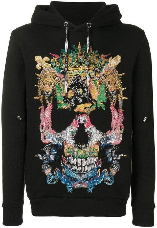 Phrase Casual Pullover Jumper Details about  /Wellcoda Skull Design Art Mens Sweatshirt