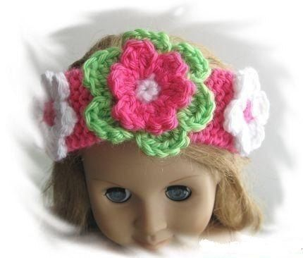 Pattern In Pdf Crochetedknitted Flower Headband By Lilyknitting