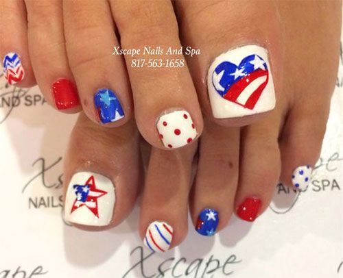 10 4th Of July Toe Nail Art Designs Ideas 2016 Fourth Of July Nails